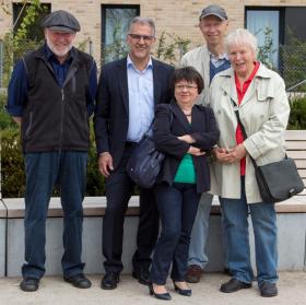 Ergun Can und Dr. Maria Hackl zu Besuch auf dem Fasanenhof