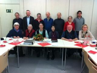 Der neue und alte Vorstand des OV Möhringen